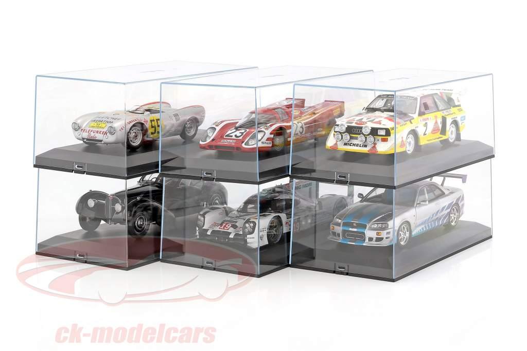 6 bouteilles Cars Exclusiv montrent cas pour les modèles de voitures 1:18