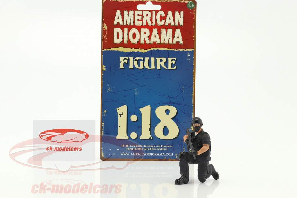 Swat Team sniper figure 1:18 American Diorama