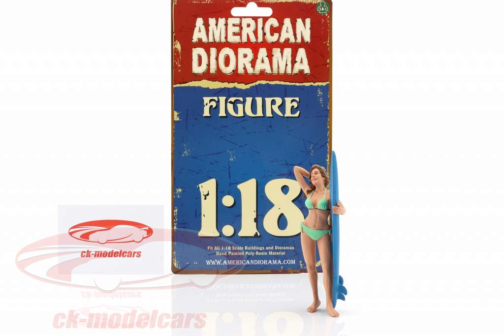 surfer Paris figuur 1:18 American Diorama