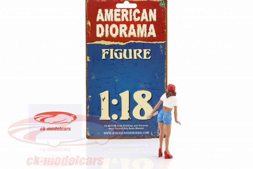 mekaniker Katie figur 1:18 American Diorama