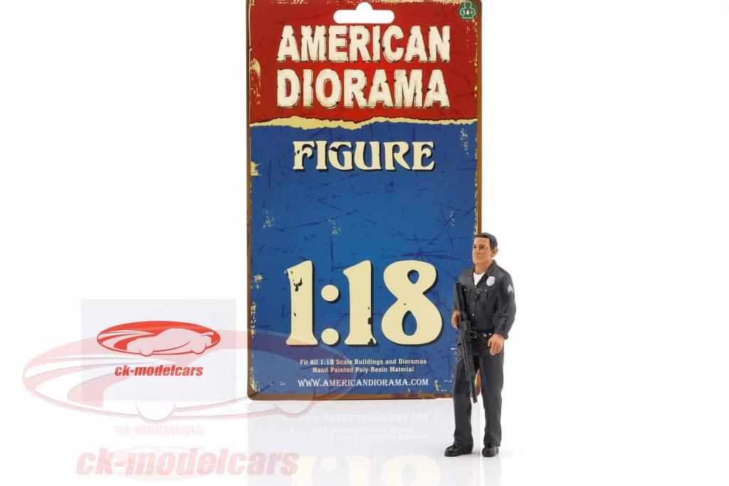 politik Officer I figur 1:18 American Diorama