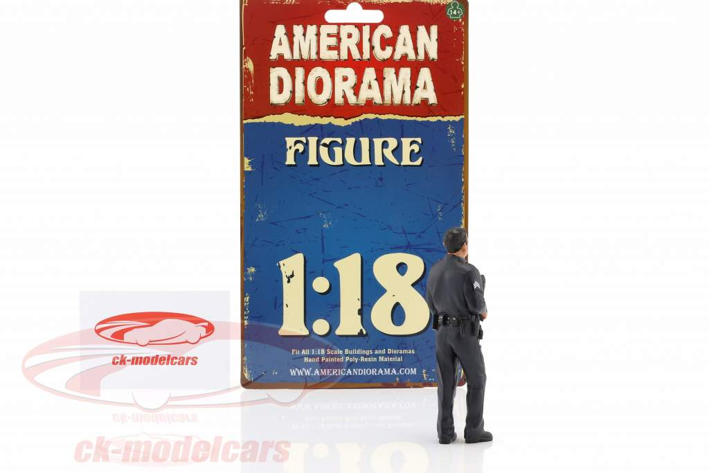 Police Officer I Figur 1:18 American Diorama
