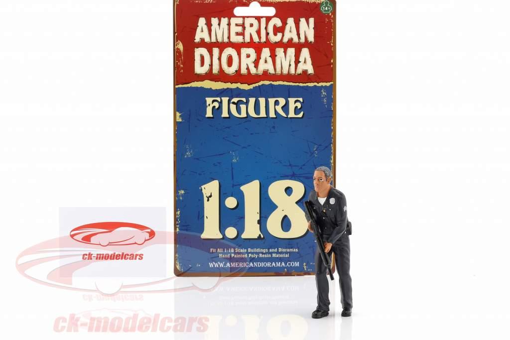 Police Officer II Figur 1:18 American Diorama