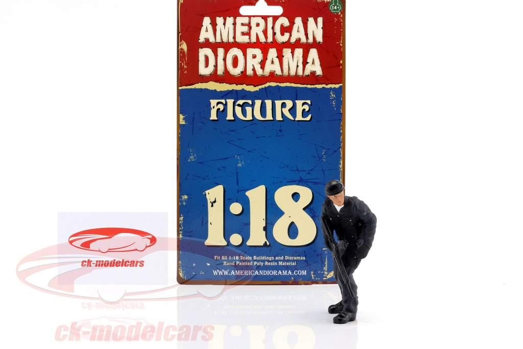Swat Team fusilier figure 1:18 American Diorama