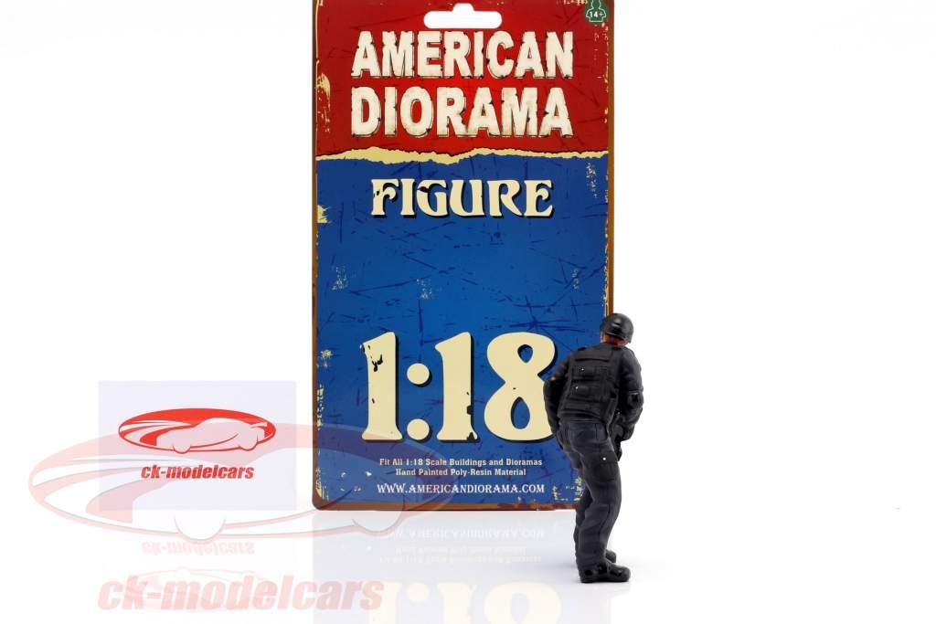 Swat Team scherpschutter figuur 1:18 American Diorama