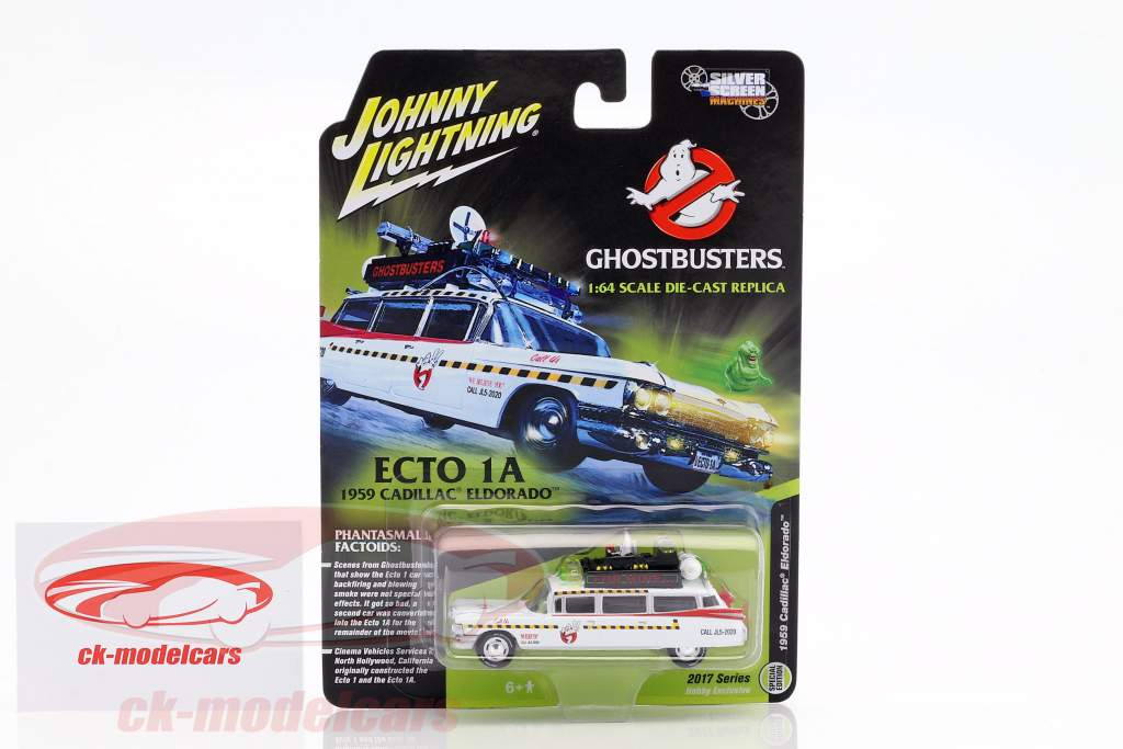 Cadillac Eldorado Ecto 1A Opførselsår 1959 film Ghostbusters II (1989) hvid / rød 1:64 JohnnyLightning