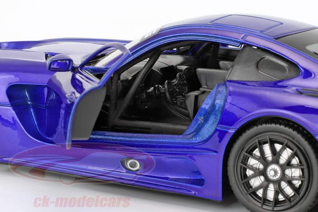 Mercedes-Benz AMG GT3 anno di costruzione 2016 blu metallico 1:24 MotorMax