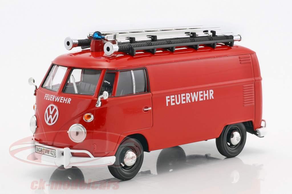 Volkswagen VW Type 2 T1 Bus Feuerwehr rot 1:24 MotorMax
