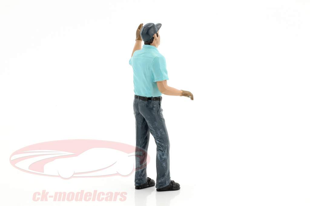 Gas Station attendant Eric figure 1:18 American Diorama
