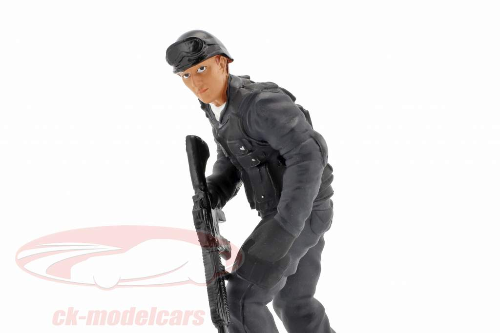 Swat Team rifleman figur 1:18 American Diorama