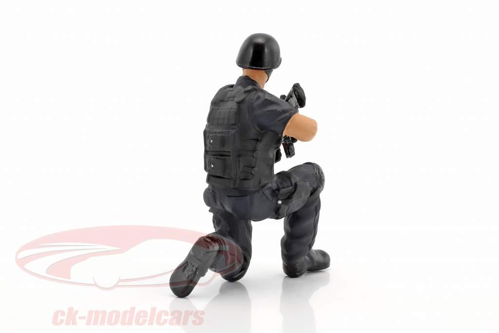 Swat Team tiratore scelto cifra 1:18 American Diorama
