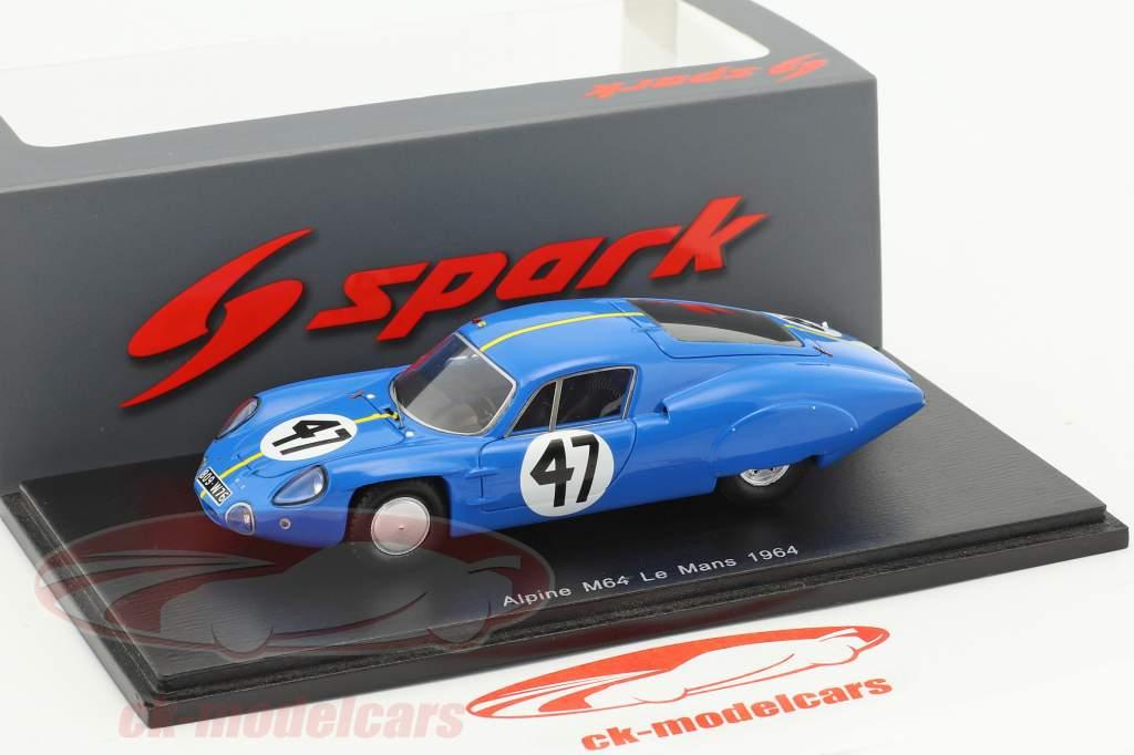 Alpine M64 #47 24h LeMans 1964 Vinatier, Bianchi 1:43 Spark