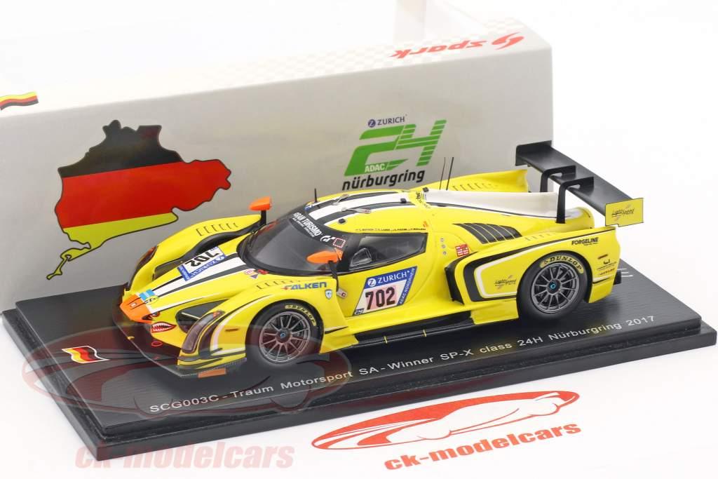 SCG003C #702 24h Nürburgring 2017 Mutsch, Piccini, Laser, Mailleux 1:43 Spark