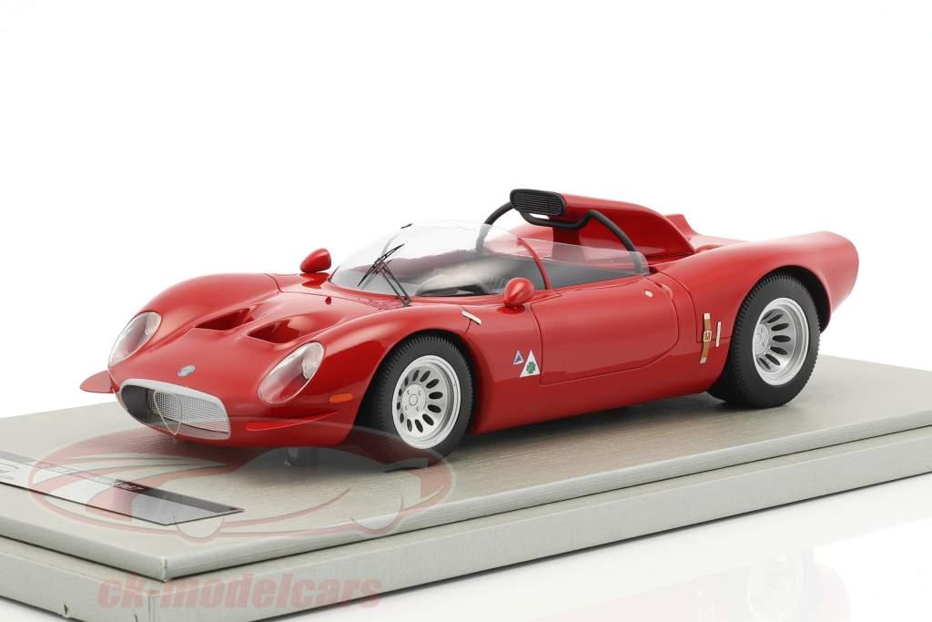 Alfa Romeo 33.2 Periscopio Press version 1967 red 1:18 Tecnomodel