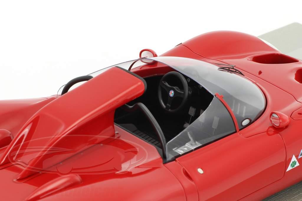 Alfa Romeo 33.2 Periscopio stampa versione 1967 rosso 1:18 Tecnomodel