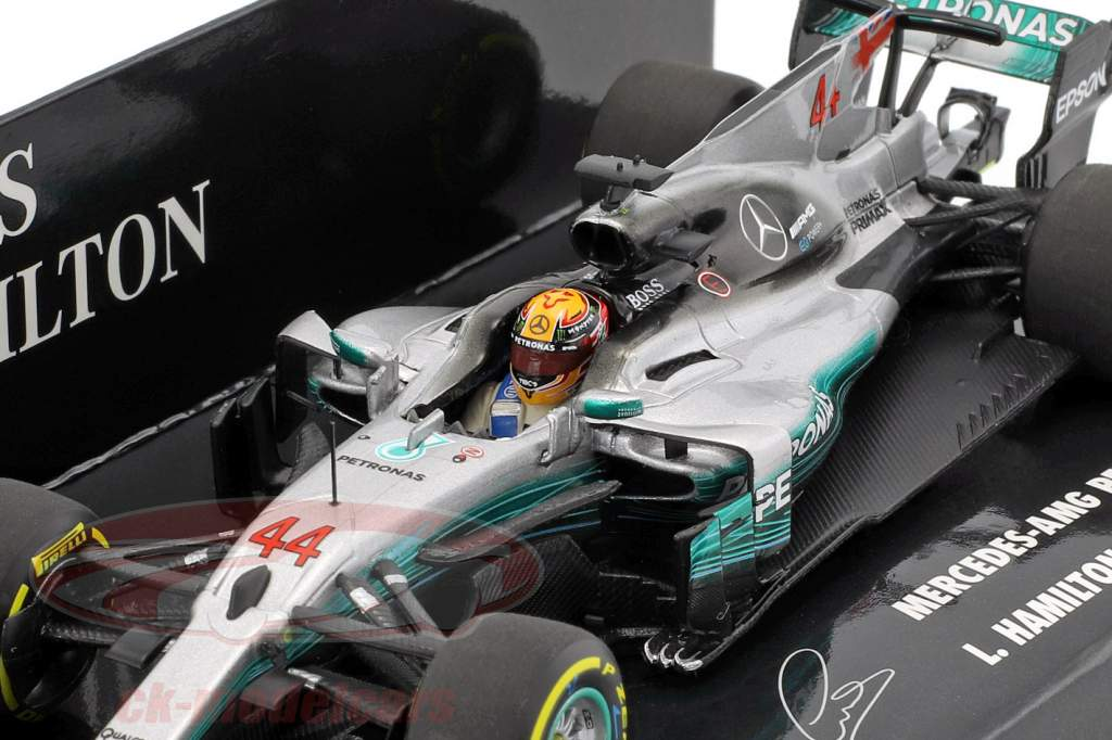 L. Hamilton Mercedes F1 W08 EQ Power #44 Monde Champion Espagne GP F1 2017 1:43 Minichamps
