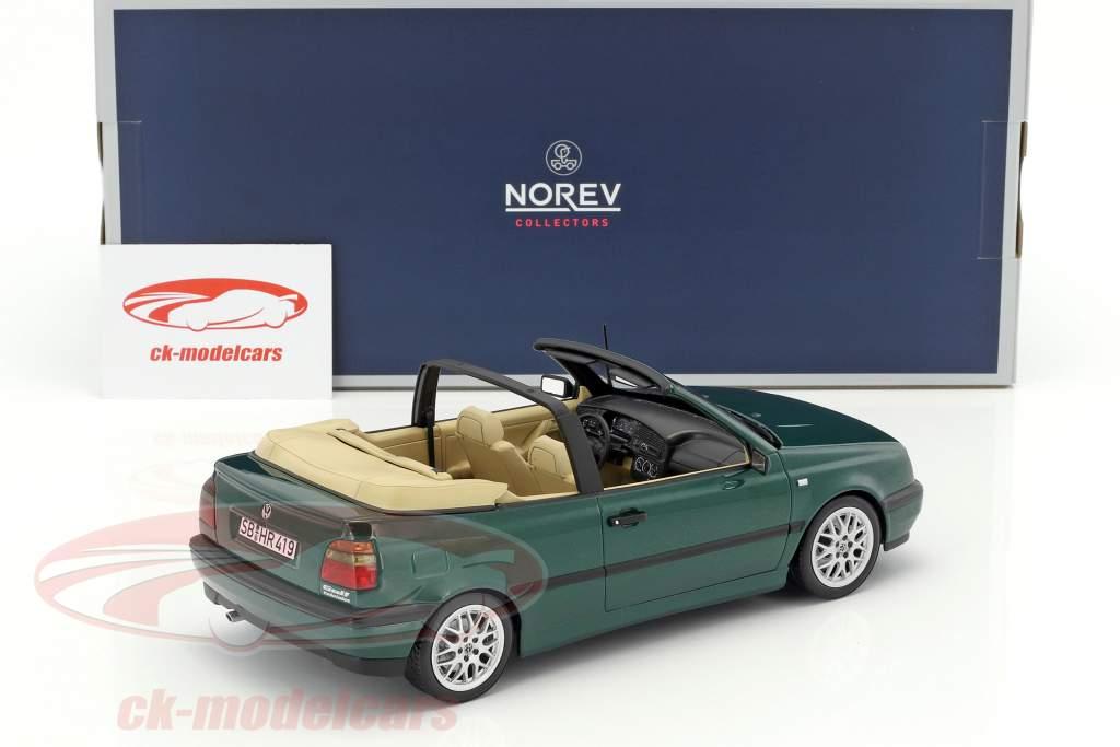 Volkswagen VW Golf 3 Cabriolet year 1995 green metallic 1:18 Norev