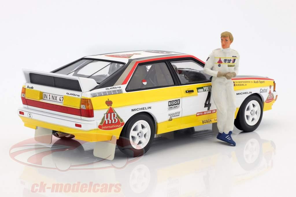 Walter Röhrl Audi Quattro figure Rally 1984 1:18 FigurenManufaktur