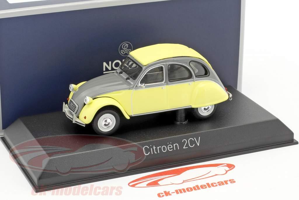 Citroen 2CV Dolly Bouwjaar 1985 rialto geel / cormoran grijs 1:43 Norev