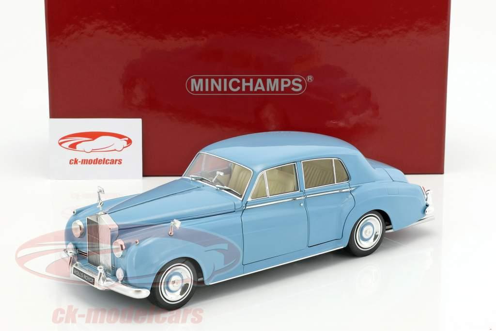 Rolls Royce Silver Cloud II Baujahr 1960 hellblau 1:18 Minichamps