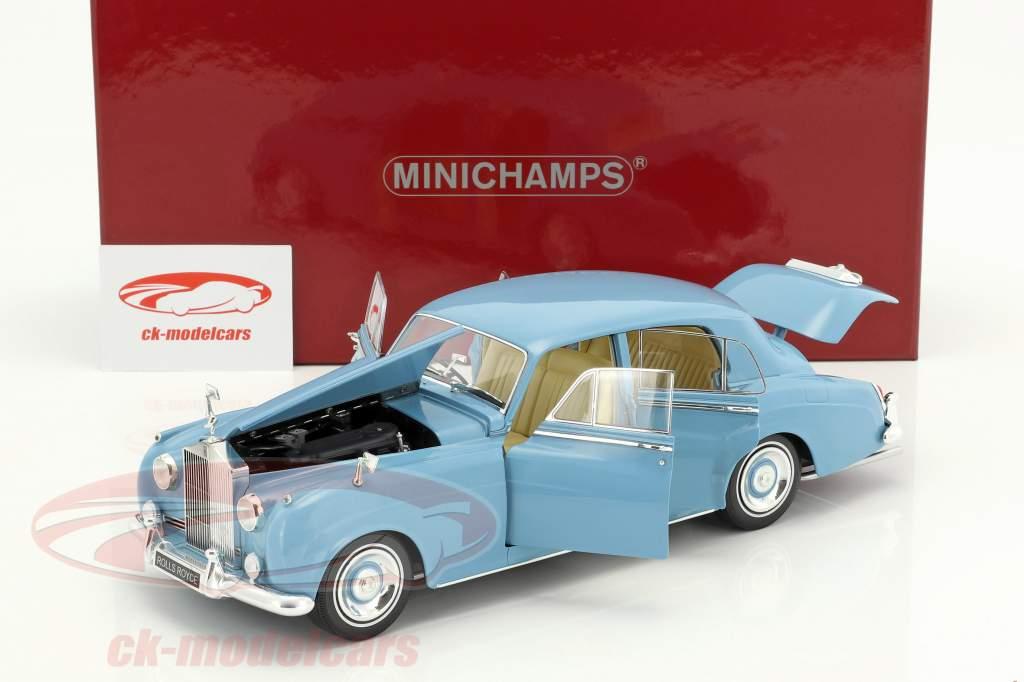 Rolls Royce Silver Cloud II anno di costruzione 1960 azzurro 1:18 Minichamps