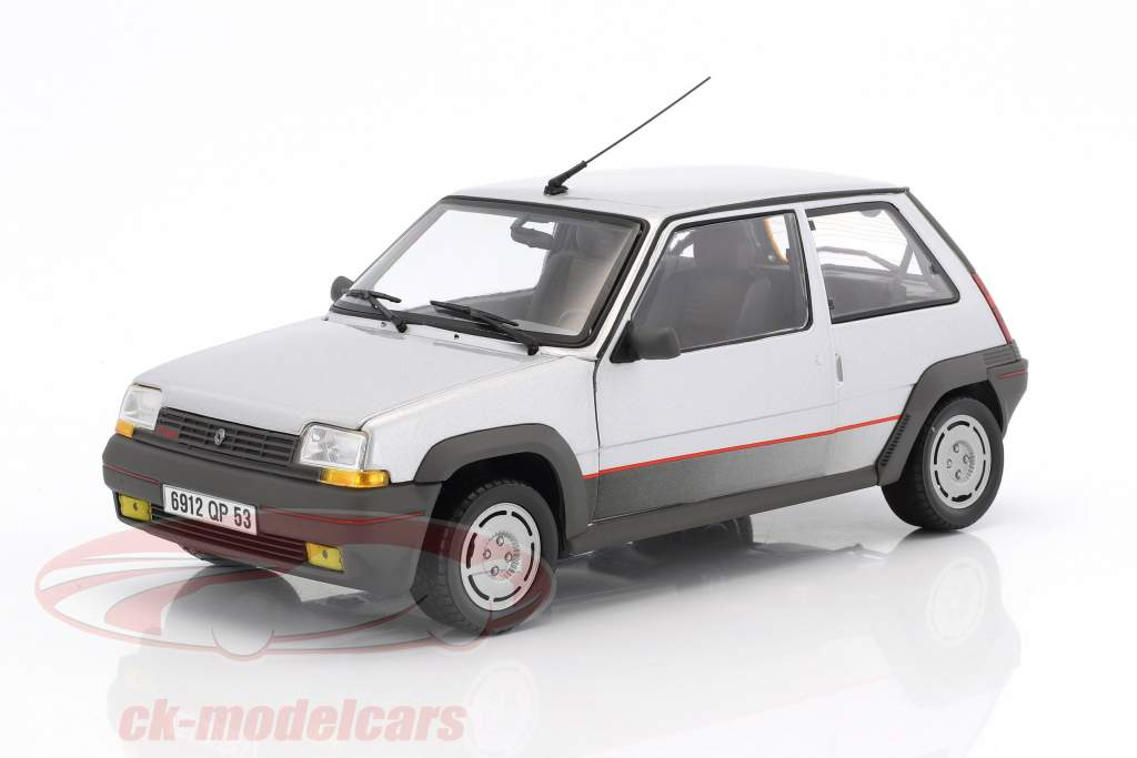 Renault SuperCinq GT Turbo year 1985 silver metallic 1:18 Norev