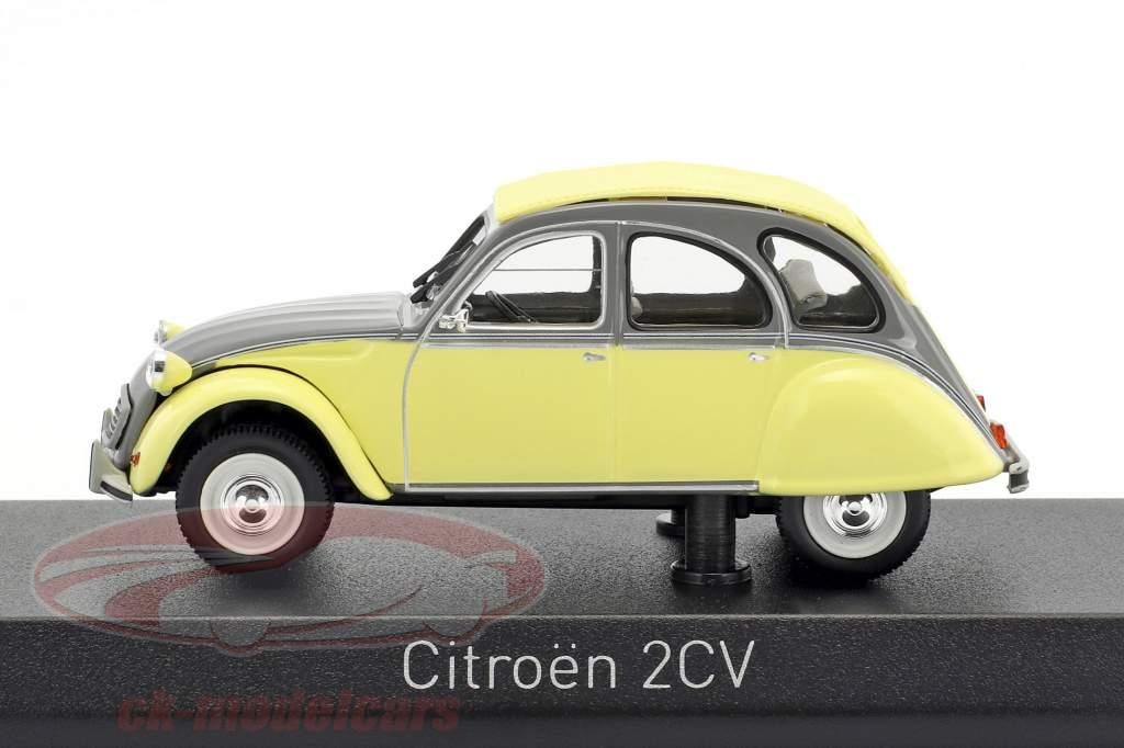 Citroen 2CV Dolly Baujahr 1985 rialto gelb / cormoran grau 1:43 Norev