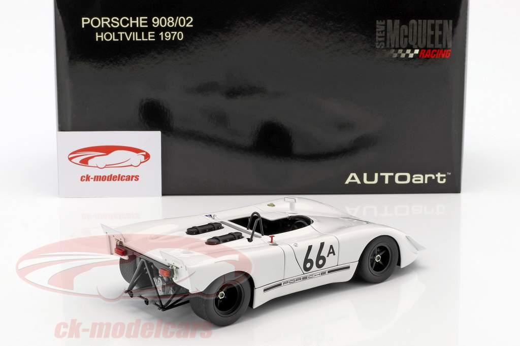 Porsche 908/02 Gulf Steve McQueen Holtville 1970 blanc 1:18 AUTOart