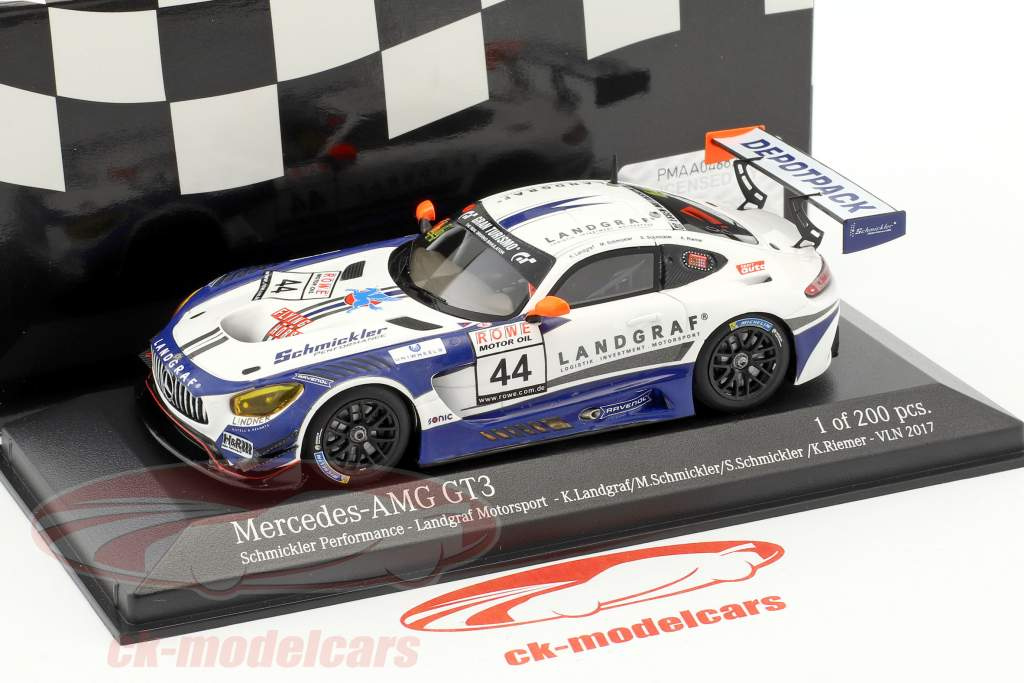 Mercedes-Benz AMG GT3 #44 VLN 2017 Schmickler Performance 1:43 Minichamps