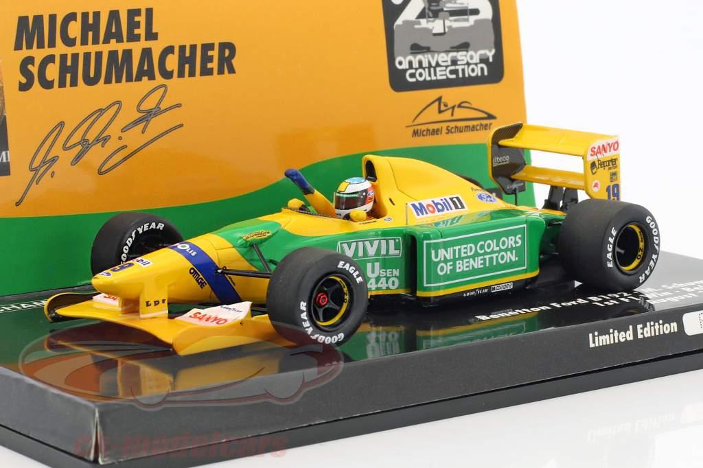 Michael Schumacher Benetton B192 #19 1st F1 Win Belgien GP Formel 1 1992 1:43 Minichamps