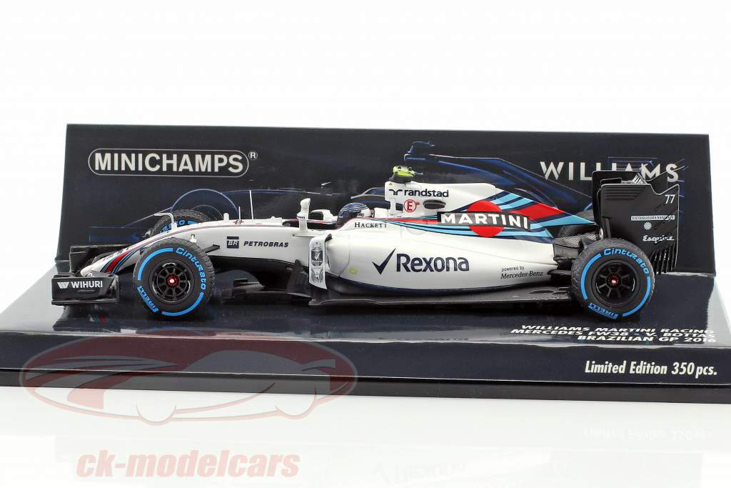Valtteri Bottas Williams FW38 #77 Brésil GP formule 1 2016 1:43 Minichamps