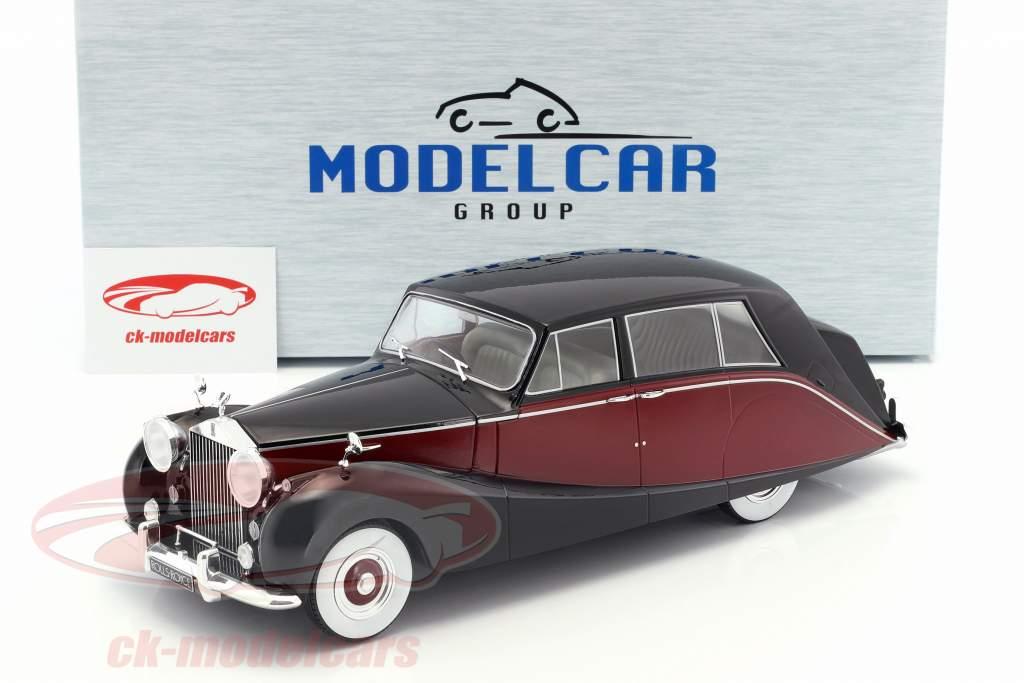 Rolls Royce Silver Wraith Empress by Hooper black / dark red 1:18 Model Car Group