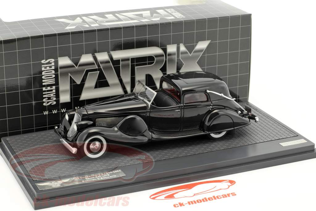 Duesenberg SJ 533-2482 Town Car LWB Bohman & Schwartz Construction year 1935 black 1:43 Matrix