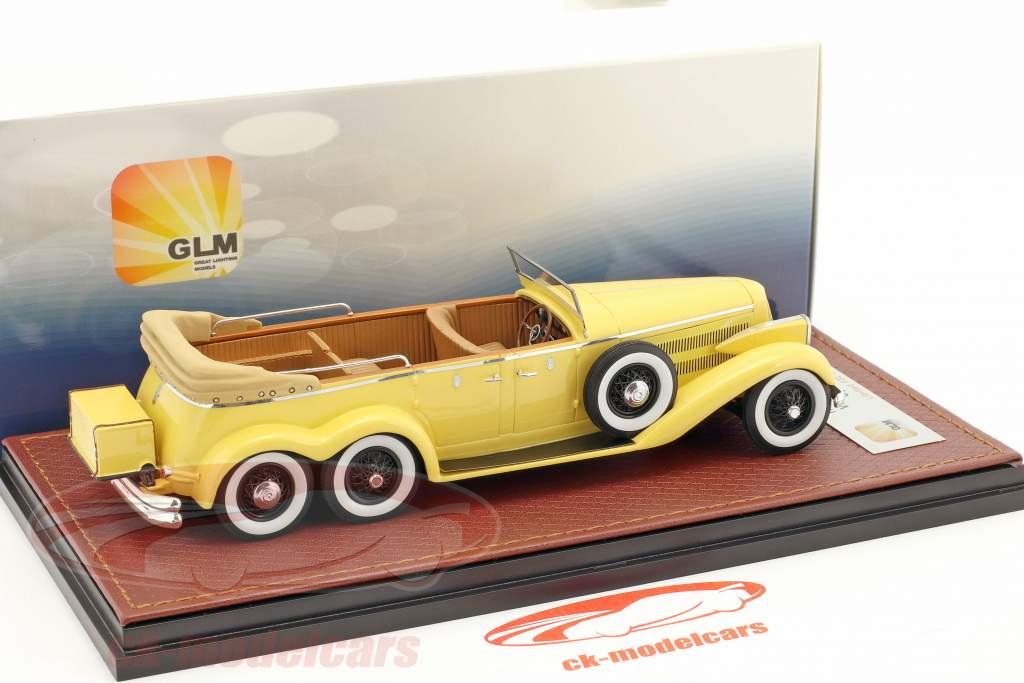 Hispano Suiza H6A Victoria Town Car aperto versione anno di costruzione 1923 giallo 1:43 GLM
