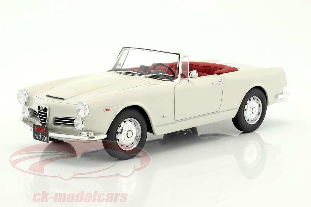 Alfa Romeo 2600 Spider Touring anno di costruzione 1961 bianco 1:18 Cult Scale
