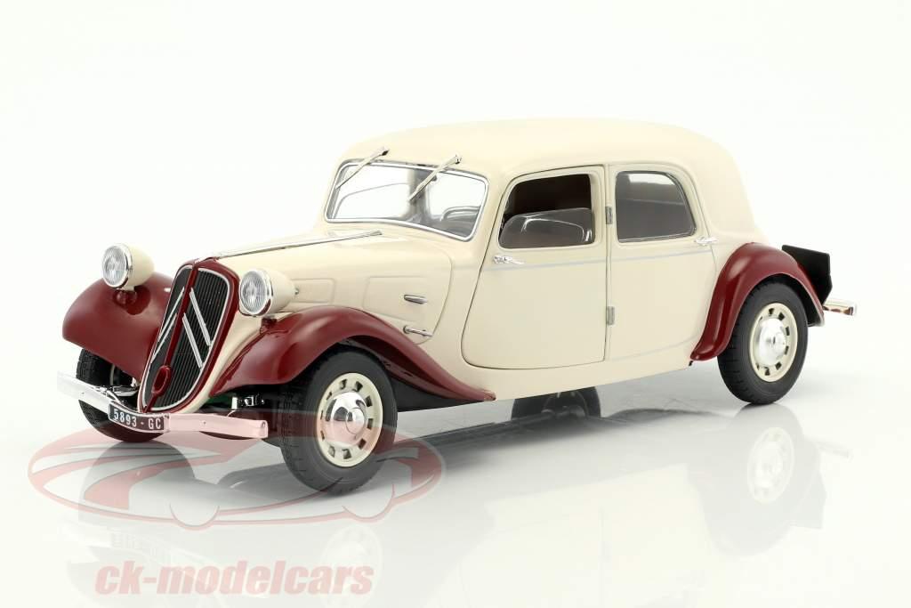 Citroen Traction 11CV année de construction 1938 beige / pourpre 1:18 Solido