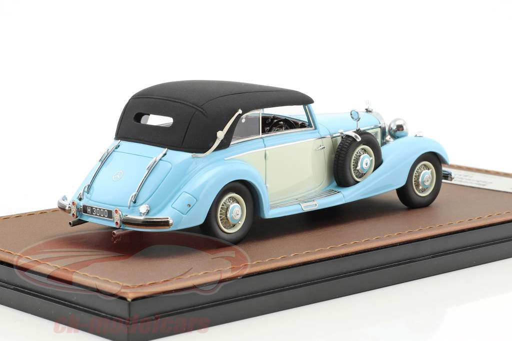 Mercedes-Benz 540K cabriolet B chiuso versione anno di costruzione 1937 azzurro / bianco 1:43 GLM