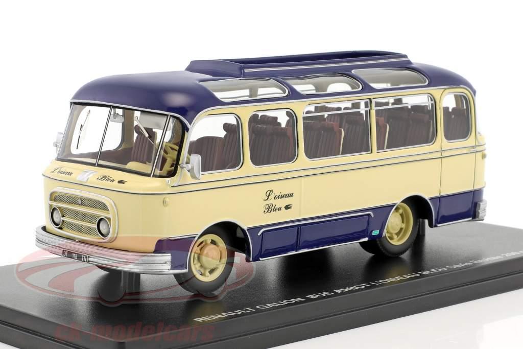 Renault Galion L'Oiseau Bleu bus Amiot blue / beige 1:43 Momaco