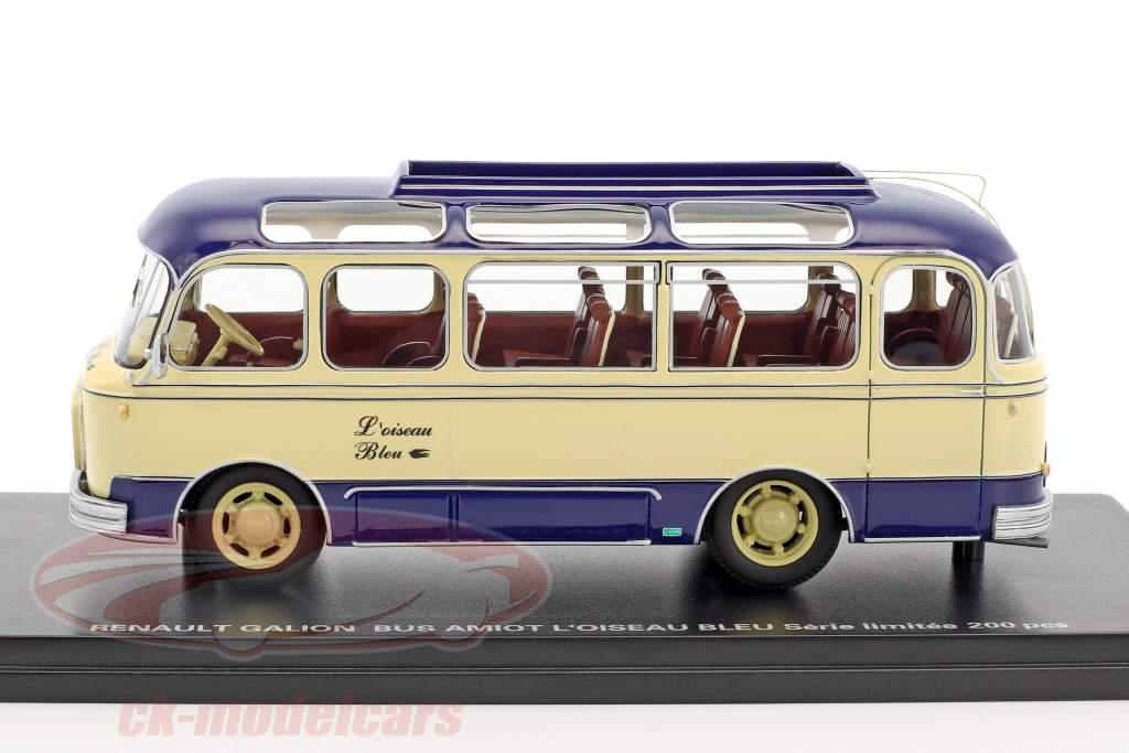 Renault Galion L'Oiseau Bleu autobus Amiot blu / beige 1:43 Momaco
