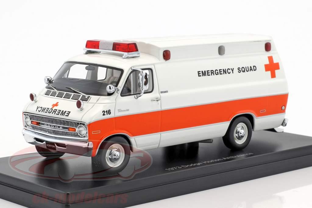 Dodge Horton ambulance année de construction 1973 blanc / orange 1:43 Neo
