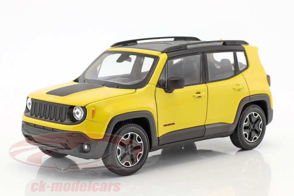 Jeep Renegade Trailhawk Bouwjaar 2016 geel / zwart 1:24 Welly