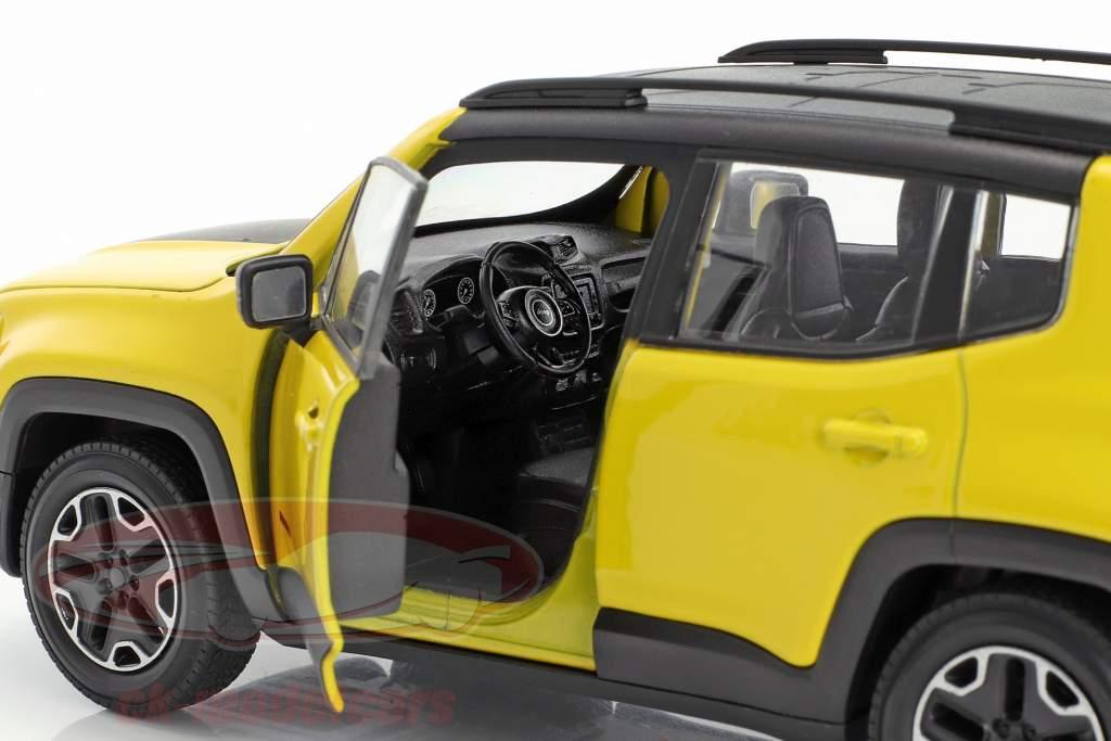 Jeep Renegade Trailhawk Opførselsår 2016 gul / sort 1:24 Welly