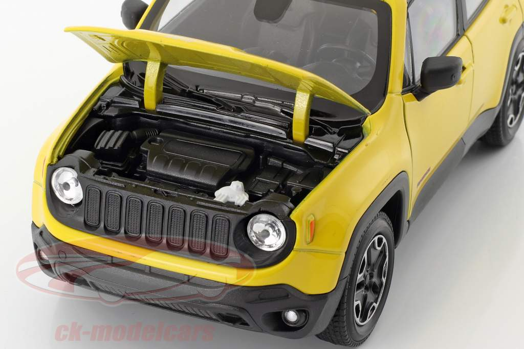 Jeep Renegade Trailhawk année de construction 2016 jaune / noir 1:24 Welly