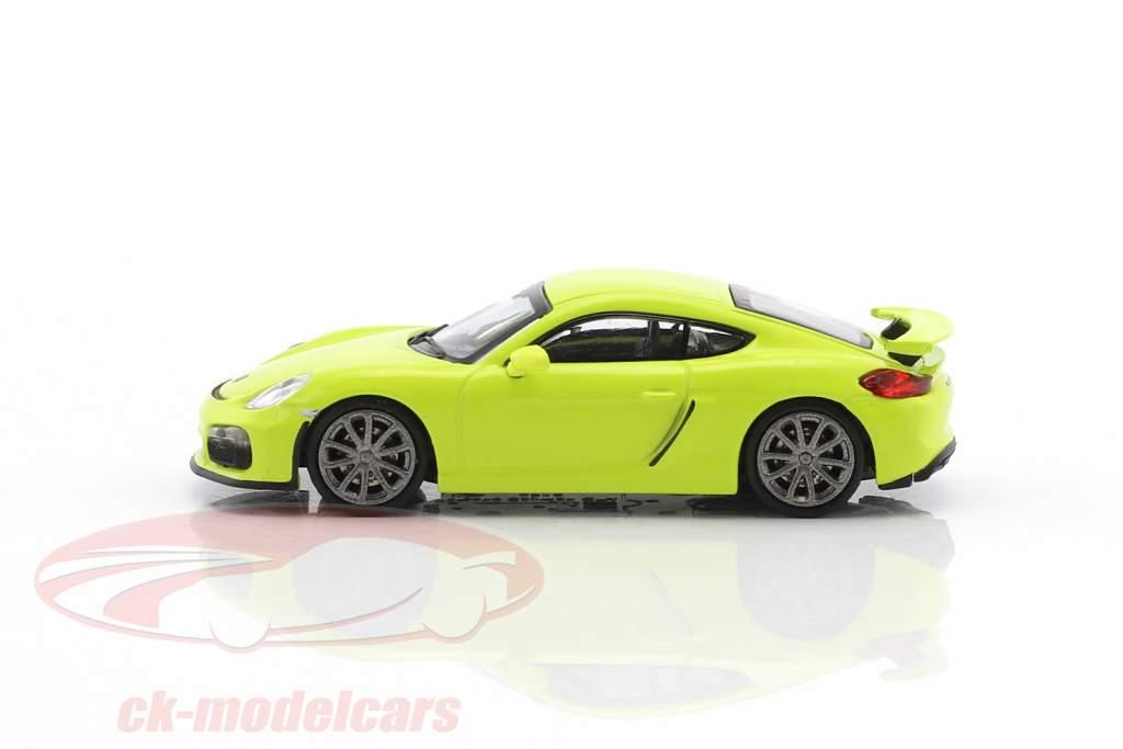 Porsche Cayman GT4 année de construction 2016 vert 1:87 Minichamps