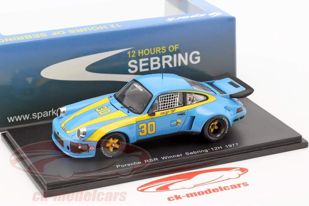 Porsche 911 Carrera RSR #30 Winner 12h Sebring 1977 Dyer, Frisselle 1:43 Spark