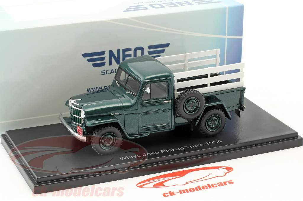 Jeep Pick Up year 1954 green / wood optics 1:43 Neo