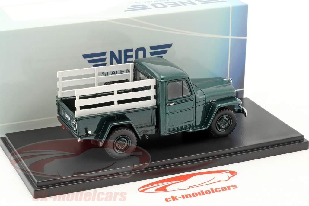 Jeep Pick Up anno 1954 verde / ottica di legno 1:43 Neo