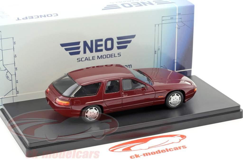 Porsche 928 Studie H50 Concept Car année 1987 pourpre métallique 1:43 Neo