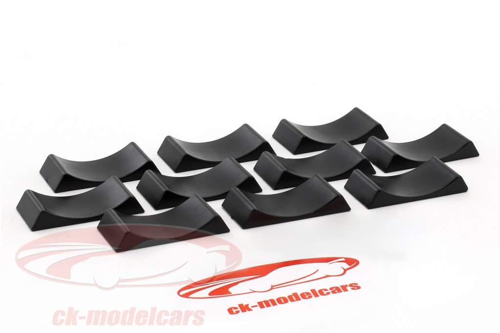 10er Set Car Stoppers black 1:18 Triple9
