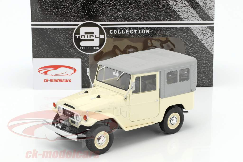 Toyota Land Cruiser FJ40 anno di costruzione 1967 beige / grigio 1:18 Triple9